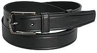 Брючный мужской кожаный ремень Skipper 5510-Д-2 чёрный ДхШ: 166х3,5 см.