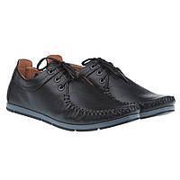 Удобные и стильные мокасины от BRONI (качественные, на шнурках, черного цвета)