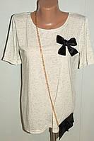 Блузка женская серая 46-48 р трикотажная.