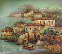 «Средиземноморский пейзаж» картина маслом