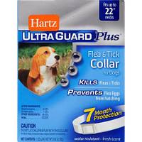 Hartz UltraGuard Plus ошейник для взрослых собак от блох, яиц блох и клещей 58 см (Н94267)