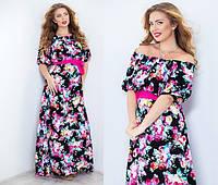 Женское платье полу батальное в двух расцветках  , фото 1