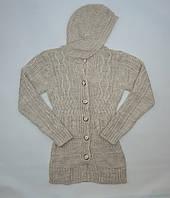 Кофта вязанная для девочки 10-16 лет