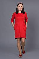 Стильное платье с карманами большие размеры