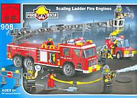 """Конструктор """"Пожарная техника"""" 607 деталей Brick 908"""