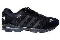 Мужские кроссовки Adidas Zictech, сетка, черные, Р. 42 43
