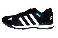 Мужские кроссовки Adidas Zictech, сетка/нубук, черные, Р. 41 42 43 44
