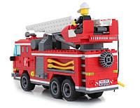 """Конструктор """"Пожарная машина с командой"""" 364 детали Brick 904"""