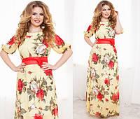 Женское платье шифон батал , фото 1