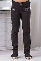 Школьные штаны для девочки sh4 (темно-синие и черные)