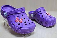 Детские кроксы с джибитс, детская летняя обувь тм Виталия Crocs р. 20-21,30-31