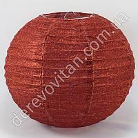 Подвесной фонарик из ткани в блестках, красный, 25 см