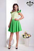"Красивое платье ""Шанти"" (св.салат+лайм), фото 1"