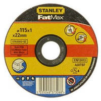 Круг Stanley отрезной по металлу, 115x1x22.2мм, тип DPC