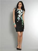 Оригинал. Распродажа 70% скидка. Черное платье Karen Millen с цветочным принтом KM70226