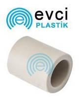 Муфта ППР 25  для полипропиленовых труб Evci Plastik