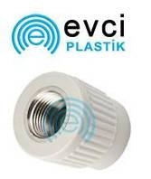 Муфта ППР под ключ с внутренний резьбой 50*1 1/2 для полипропиленовых труб Evci Plastik