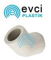 Колено (угол) ППР 20 х 45° для полипропиленовых труб Evci Plastik