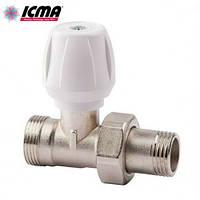 Кран радиаторный верхний прямой 3/4 ICMA