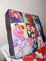 Подушка с фото печать с шести сторон 32*32*8см