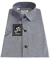 Мужская рубашка с коротким рукавом в клетку №10/16 7486 V1