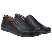 Практичные туфли мужские Kadar (комфортные, удобные, кожаные)