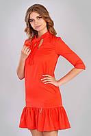 Красное коктейльное платье