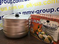 Манты-казан алюминиевый Калитва, 2 сетки, 13 литров