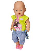 Комплект летней одежды для кукол «BABY born» цвет зеленый