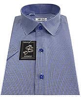 Мужская рубашка с коротким рукавом в клетку №10/16 7486 V2