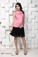 Гипюровая юбка для беременных Hilary, черная