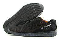 Кроссовки мужские Adidas ZX Flux 8000 черные с оранжевым (адидас)