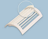 Решетка вентиляционная радиальная однорядная