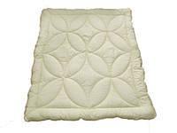 Одеяло двуспальное, силиконовое Беж, бязь хлопок 100% (175х215 см.)