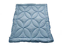 Одеяло полуторное облегченное, силиконовое Голубое небо, бязь хлопок 100% (140х205 см.)