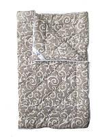 Шерстяное одеяло полуторное, Орнамент2, бязь хлопок 100% (140х205 см.)