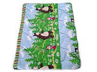 Детское одеяло силиконовое, антиаллергенное Маша и медведь