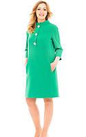 Батальное платье из крепа с 3/4 рукавом, фото 1