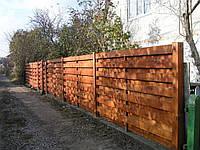 Забор деревяный