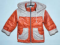 Куртка-трансформер для мальчика 2-5 лет терракотовая