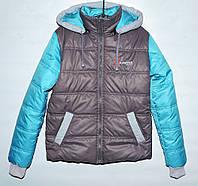 Демисезонная куртка для мальчика 9-11 лет серая