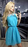 """Платье """"Мария"""", голубое"""