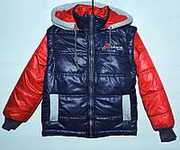 Куртка-трансформер для мальчика 4-11 лет темно-синяя