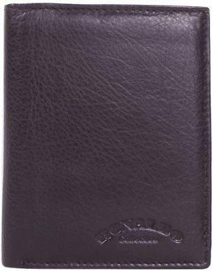 Модное и вместительное мужское портмоне из натуральной кожи RONALDO Артикул: DNK0800-D-black черный