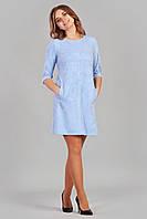 Молодежное женское платье нежно голубого цвета