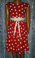 Лёгкое летнее детское платье, красное
