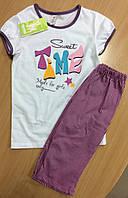 """Стильная пижама для девочки ТМ """"Бемби"""" размер 128,134"""