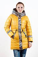 Куртка-парка зимняя для девочки в цветах (36-40рр)