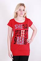 Красивая красная  женская туника.