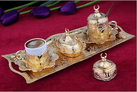 Набор чашек для кофе Золотой тюльпан на 2 персоны